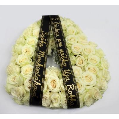 Srdce z růží - na výběr bílé nebo červené růže +3 990 Kč