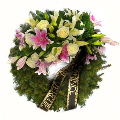 Věnec s liliemi +700 Kč