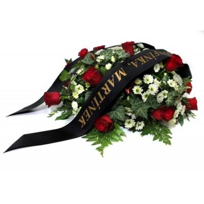 Aranžmá - červené růže a břečťan +2 990 Kč
