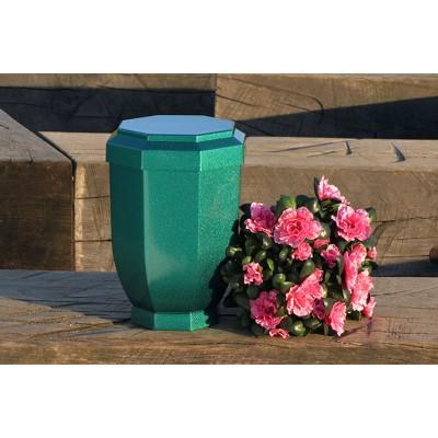 Zelený perleťový obal na urnu (v ceně)